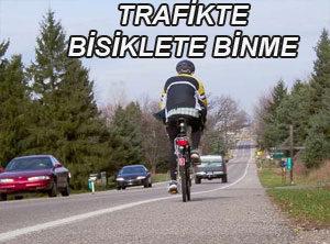 Trafikte Bisiklete Binme